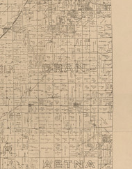Oran, Illinois 1893 Old Town Map Custom Print - Logan Co.