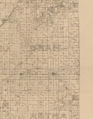 Oran, Illinois 1893 Old Town Map Custom Print - Logan Co.