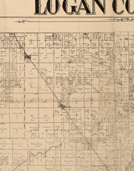 Orvil, Illinois 1893 Old Town Map Custom Print - Logan Co.