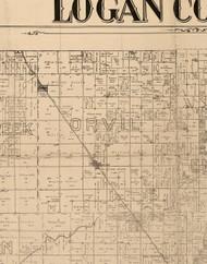 Orvil, Illinois 1893 Old Town Map Custom Print - Logan Co.