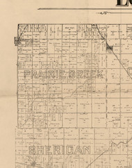 Praire Creek, Illinois 1893 Old Town Map Custom Print - Logan Co.