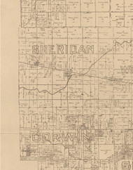Sheridan, Illinois 1893 Old Town Map Custom Print - Logan Co.