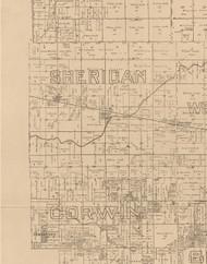 Sheridan, Illinois 1893 Old Town Map Custom Print - Logan Co.
