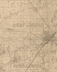 West Lincoln, Illinois 1893 Old Town Map Custom Print - Logan Co.