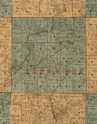 Alhambra, Illinois 1892 Old Town Map Custom Print - Madison Co.