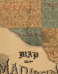 Alton, Illinois 1892 Old Town Map Custom Print - Madison Co.