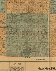 Collinsville, Illinois 1892 Old Town Map Custom Print - Madison Co.