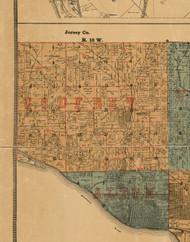Godfrey, Illinois 1892 Old Town Map Custom Print - Madison Co.