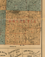 Helvetica, Illinois 1892 Old Town Map Custom Print - Madison Co.