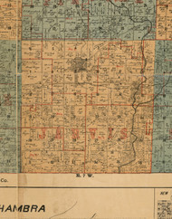 Jarvis, Illinois 1892 Old Town Map Custom Print - Madison Co.