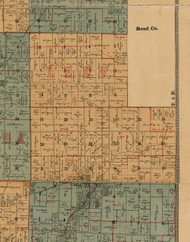 Lee, Illinois 1892 Old Town Map Custom Print - Madison Co.