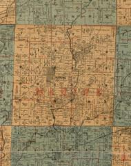 Marine, Illinois 1892 Old Town Map Custom Print - Madison Co.
