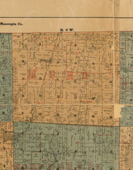 Moro, Illinois 1892 Old Town Map Custom Print - Madison Co.