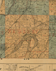 Nameoki, Illinois 1892 Old Town Map Custom Print - Madison Co.