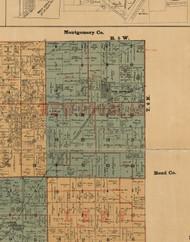 New Douglas, Illinois 1892 Old Town Map Custom Print - Madison Co.