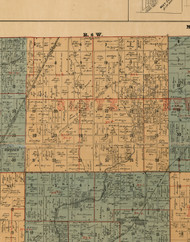 Olive, Illinois 1892 Old Town Map Custom Print - Madison Co.