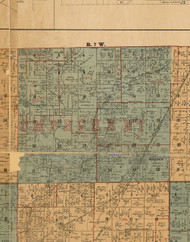Omphgent, Illinois 1892 Old Town Map Custom Print - Madison Co.