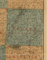 Saline, Illinois 1892 Old Town Map Custom Print - Madison Co.