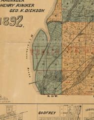 Venice, Illinois 1892 Old Town Map Custom Print - Madison Co.