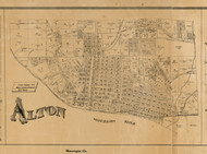 Alton Village, Illinois 1892 Old Town Map Custom Print - Madison Co.