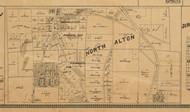 North Alton Village, Illinois 1892 Old Town Map Custom Print - Madison Co.