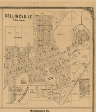 Collinsville Village, Illinois 1892 Old Town Map Custom Print - Madison Co.