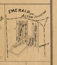 Emerald Village Alton Junction Village, Illinois 1892 Old Town Map Custom Print - Madison Co.
