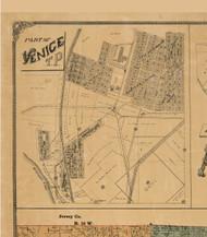 Venice Village, Illinois 1892 Old Town Map Custom Print - Madison Co.