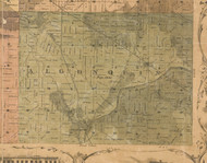 Algonquin, Illinois 1862 Old Town Map Custom Print - McHenry Co.