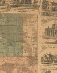 Burton, Illinois 1862 Old Town Map Custom Print - McHenry Co.
