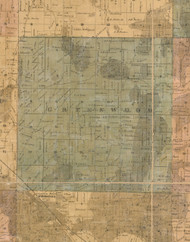 Greenwood, Illinois 1862 Old Town Map Custom Print - McHenry Co.
