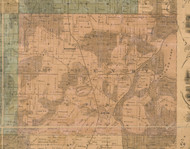 McHenry, Illinois 1862 Old Town Map Custom Print - McHenry Co.