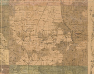 Nunda, Illinois 1862 Old Town Map Custom Print - McHenry Co.