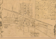 Marengo Village - McHenry Co. , Illinois 1862 Old Town Map Custom Print - McHenry Co.