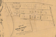 West McHenry Village - McHenry Co. , Illinois 1862 Old Town Map Custom Print - McHenry Co.