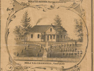 SK Cromwell Residence Grafton - McHenry Co. , Illinois 1862 Old Town Map Custom Print - McHenry Co.
