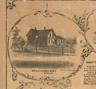 JE Beckley Residence Nunda - McHenry Co. , Illinois 1862 Old Town Map Custom Print - McHenry Co.