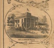 Joseph Deitz Residence  Seneca - McHenry Co. , Illinois 1862 Old Town Map Custom Print - McHenry Co.