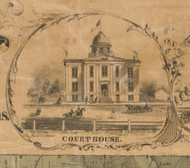 McHenry Courthouse - McHenry Co. , Illinois 1862 Old Town Map Custom Print - McHenry Co.
