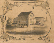 Fox River Valley Mills Owen Bros - McHenry Co. , Illinois 1862 Old Town Map Custom Print - McHenry Co.