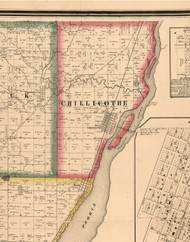 Chillicothe, Illinois 1861 Old Town Map Custom Print - Peoria Co.