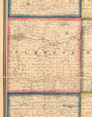 Elmwood, Illinois 1861 Old Town Map Custom Print - Peoria Co.