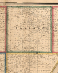 Hallcock, Illinois 1861 Old Town Map Custom Print - Peoria Co.