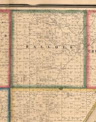 Hallcock, Illinois 1861 Old Town Map Custom Print - Peoria Co.