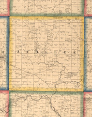 Jubilee, Illinois 1861 Old Town Map Custom Print - Peoria Co.