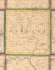 Jubilee, Illinois 1861 Old Town Map Custom Print - Peoria Co.