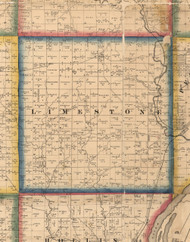 Limestone, Illinois 1861 Old Town Map Custom Print - Peoria Co.