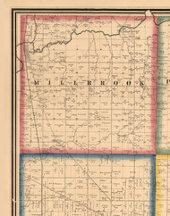 Millbrook, Illinois 1861 Old Town Map Custom Print - Peoria Co.