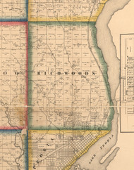 Richwoods, Illinois 1861 Old Town Map Custom Print - Peoria Co.