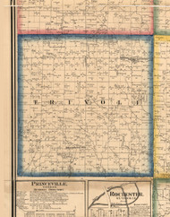 Trivioli, Illinois 1861 Old Town Map Custom Print - Peoria Co.